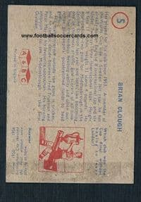 1958 Brian Clough A&BC Gum 2nd issue 1 of 2 known types, blue, Boro Forest